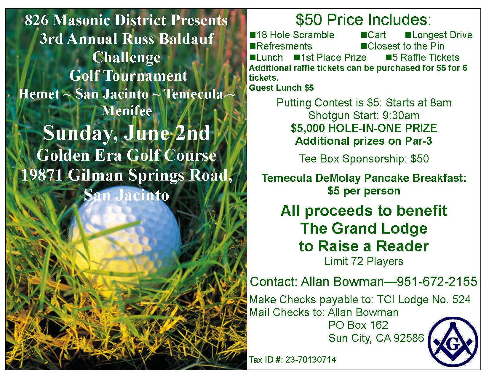 Masonic 3rd Annual 826 Masonic District Golf Tournament (1)