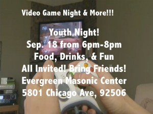 Youth Game Night at Evergreen lodge