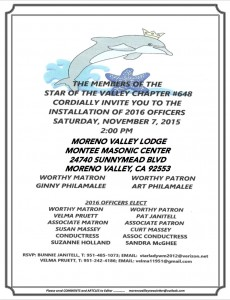 11:7:15 Star of the Valley Installation