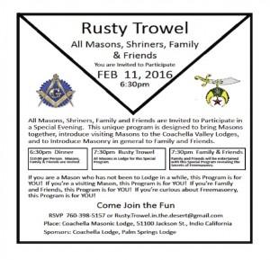 Rusty Trowel 2:11:2016