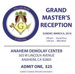 Grand master Reception 3:6:2016