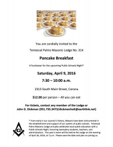 4:9:2016 Public Schools Fundraiser Breakfast Flyer
