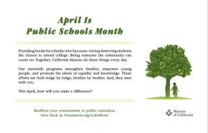 April Public School Month