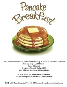 Pancake Breakfast- Evergreen lodge 5:15:16