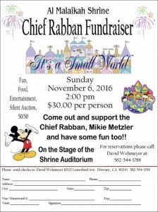 Chief Rabban Fundraiser 11:6:16
