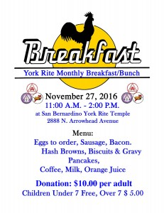 November Breakfast Flyer