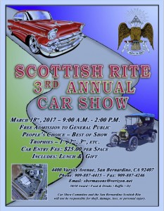 Scottish Rite Car Show 2017